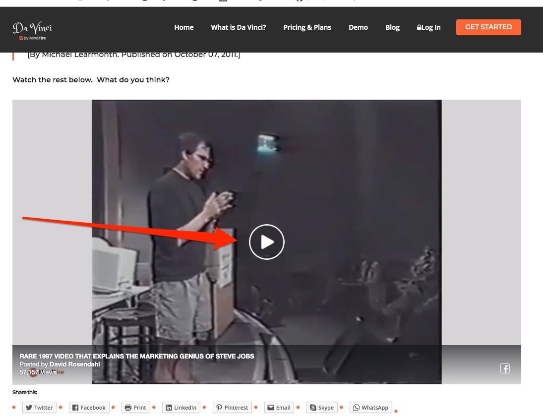 Steve Jobs Rare Video
